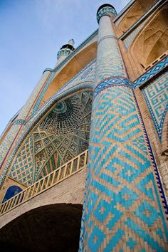 Yazd, Iran. Just one of the many stunning mosques in Iran