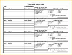 open house sign in sheet with questions | Realtor | Pinterest ...