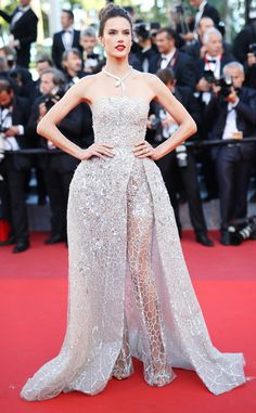 Alessandra Ambrosio from Cannes 2016: Best Dressed Stars  The model's intricate ensemble is both confusing and delightful.