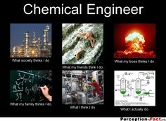 Chemical Engineer... - What people think I do, what I really do - Perception Vs Fact