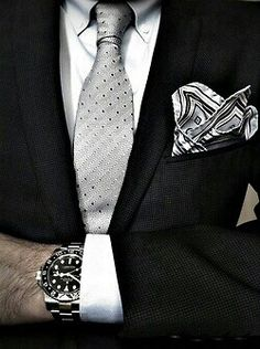 Rolex Watch , Mens Suit & Tie