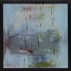 "Encaustic — Mel Rea :: Blocked In #1 :: 16""x16"" :: sold"