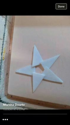 Cut triangles and overlap to create stars