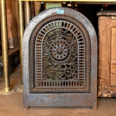 Arched Top Fireplace Summer Front Cover - Columbus Architectural Salvage