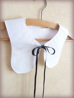 White Cotton Poplin Collar Bib