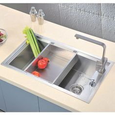 View 1.  Shown with Tray, Sold Separately (See Matching Items). #kitchensource #pinterest #followerfind #dawnsinks #kitchensink