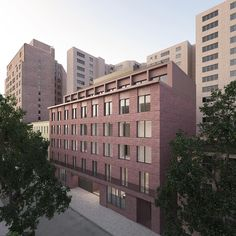 Revised Design for New West Village Residential Building at Jane Street Fails to Gain Landmarks Approval - New York YIMBY David Chipperfield Architects, Thin Brick, Brick Facade, Concrete Structure, Contemporary Classic, Greenwich Village, West Village, Front Elevation, Time Photo