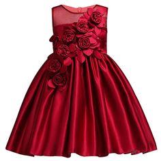 Girl Dresses Summer Petals Dress For Kids Party Birthday Prom Gowns Girl Wedding Dress Infantil Vestidos