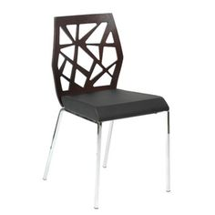 @Overstock - These wenge-stained chairs feature oak veneered wood backs with stylized cutouts. Black PU leatherette with lychee grain and a chromed steel base complete the look of these Jan Sabro designed chairs.http://www.overstock.com/Home-Garden/Sophia-Side-Chair-Set-of-2/7157792/product.html?CID=214117 $377.99