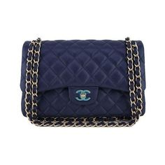 14aff9bdbc96 Pre-Owned Chanel Navy Blue Caviar Jumbo 2.55 Classic Double Flap Bag (£4,190
