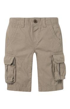 Older Boy Stone Cargo Shorts