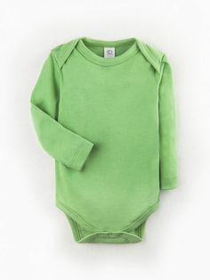 4eb5978da Organic Classic Baby Bodysuit - Long Sleeve in Basil - Colored Organics  Hipster Clothing Stores,
