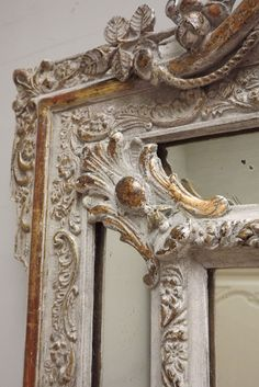 Large French, Antique Cushion Mirror c1890