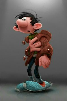 Gaston Lagaffe by Franquin by Alex Blain 3d Character, Character Drawing, Character Illustration, Character Design, Marvel Cartoon Movies, Cartoon Art, Cartoon Characters, Black Comics, Drawing Sketches