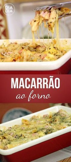 Macarrão ao Forno Bento Recipes, Healthy Recipes, Easy Cooking, Cooking Recipes, Good Food, Yummy Food, Portuguese Recipes, Happy Foods, Fabulous Foods