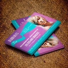 • Cliente: Barbara's - Hair Design • Criação de arte para cartão de visita 4/4 UV. • Programas Utilizados: Photoshop e Corel Draw.