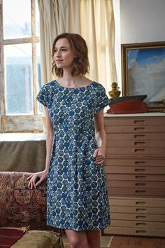 Designed In Cornwall - Seasalt Cornwall Printed Cotton, Beautiful Dresses, Knitwear, Women Wear, Short Sleeve Dresses, Summer Dresses, Clothes For Women, My Style, Casual
