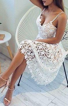 #summer #fashion / eyelet dress