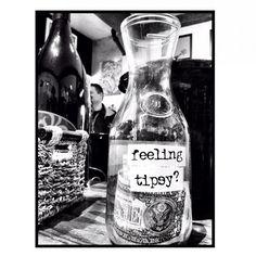 """Feeling Tipsy?"" - Great idea for a bar tip jar!"