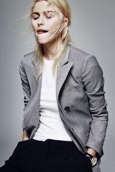 Lena Gercke wearing an #EmporioArmani blazer and pants.