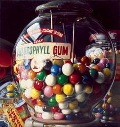 Artodyssey: Charles Bell Banks, Peggy Guggenheim, Museums In Nyc, Gumball Machine, Mixed Media Canvas, Bubble Gum, Art World, Oeuvre D'art, Painting Frames