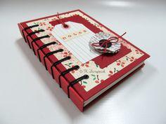 caderno scrapbook encadernacao costura exposta