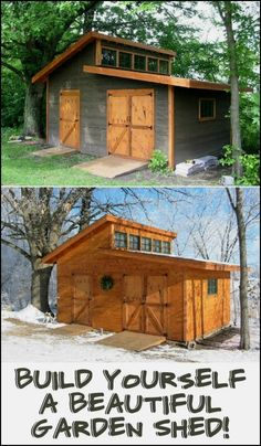 New Shed Plans   CLICK PIC For Lots Of Shed Ideas. #shed #woodshedplans