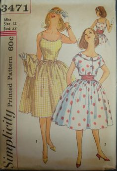 Ah, sewing, yet another skill I should have had the patience to learn from my very talented grandma and mom.  And yet, no.      Vintage 1960s Full Skirt by KooterandFlos