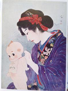 鏑木清方「春装」大正6年(「國民新聞」附録)