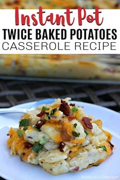This Instant Pot Twice Baked Potatoes Casserole Recipe is amazing! You are going to love this easy pressure cooker loaded baked potato casserole recipe. This recipe is the best to make ahead so that you can easily make it for a crowd or for the holidays. Instant Pot Potato Recipe, Instant Potatoes, Best Instant Pot Recipe, Instant Pot Dinner Recipes, Loaded Baked Potato Casserole, Potatoe Casserole Recipes, Baked Potato Recipes, Loaded Baked Potatoes, Cheesy Potatoes