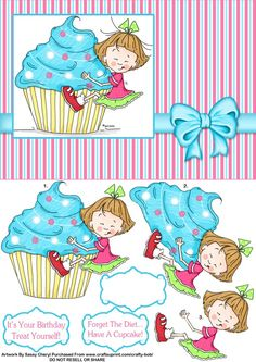 gourmandise cup cake fillette3D