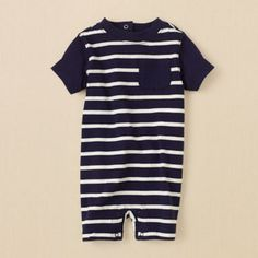 newborn - boys - striped romper | Children's Clothing | Kids Clothes | The Children's Place