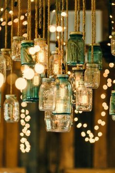 Gorgeous lantern and twinkle lit reception at this Chattanooga barn reception!
