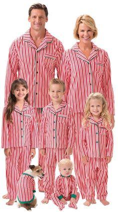 Family matching PJs in Candy Cane Stripes | Family Christmas Pajamas | Christmas Family Pajamas | Matching family pajamas #matching #pajamas #christmas #holidays #family Pyjamas Assortis, Cozy Pajamas, Fleece Pajamas, Family Pajama Sets, Matching Family Pajamas, Pajamas For Teens, Pajamas Women, Christmas Pajamas For Adults, Holiday Pajamas