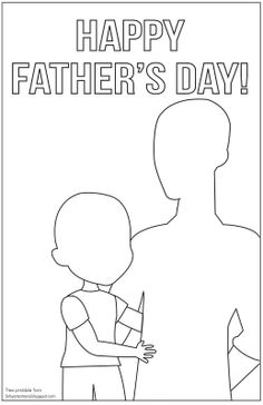 Father's Day Card to draw/color in. (BitsyCreations: Father's Day Freebie)