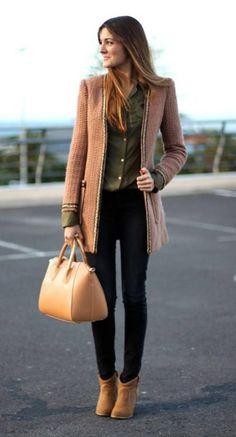 Más de 10 #outfits con saco para invierno #Moda #femenina Mckela.com