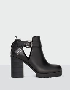 Openwork high heel ankle boots - See all - Shoes - Woman - PULL&BEAR Portugal