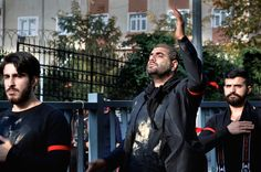 Day of Ashura Mourning ceremony in Turkey - Istanbul, Turkey - October 11, 2016: Day of Ashura Mourning ceremony in Turkey. Caferis take part in a mourning procession marking the day of Ashura in Istanbul's Halkali region, Turkey on October 11, 2016. Caferi Muslims are observing the Ashura, the tenth day of the first Islamic month of Muharram, to commemorate the martyrdom of Imam Hussein, a grandson of the Prophet Mohammed, in the Iraqi city of Karbala in the seventh century.