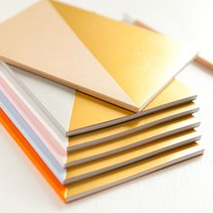 Geometric Notebooks by Brown Paper