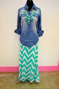 Southern Jewlz Online Store - Chevron Maxi Skirt,(http://www.southernjewlz.com/chevron-maxi-skirt/)