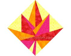 Maple Leaf quilt block paper pieced quilt by PieceByNumberQuilts