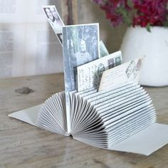 Turn a book into a picture/card/bill holder Printable