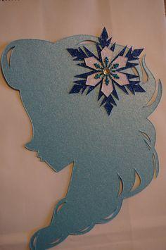 Disney Frozen Inspired Elsa Silhouette by SpinningWheelSupply, $20.00