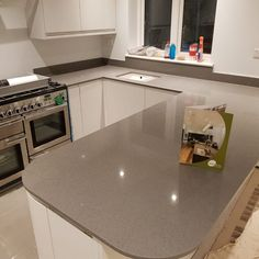 Quartz are widly using in all over the world because till over good hard surface or a worktop visit Quartz Kitchen Worktops Sussex Chelmsford Essex, Kitchen Worktops, Kitchen Cabinets, Work Tops, Grey Stone, Granite, Quartz, Stella, Luxury