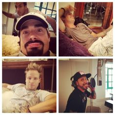 Backstreet Boys - Day 17. Tweeted by Kevin Richardson.  Lol! I think living together is starting to drive them a little crazy.