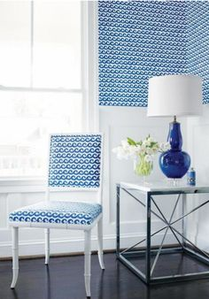 Shore Thing Wallpaper & Fabric by Thibaut — Maxwell's Daily Find 10.22.13   Apartment Therapy