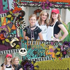 Credits: #believeinmagic: Christmas Nightmare Collection  Cindy's Layered Templates - Half Pack 141: Photo Focus 72 by Cindy Schneider Layout by Kjersti Sudweeks Sweetshoppe Designs Nightmare Before Christmas Halloween Layout Digital Layout Scrapbooking Jack Skellington