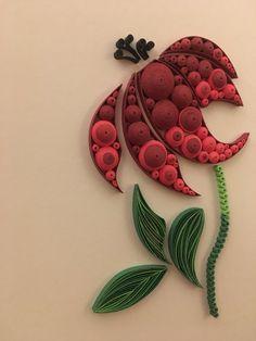 Pretty Flower Quilling Wall Art