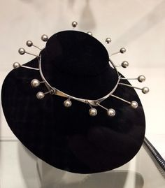 Necklace | Art Smith.  Sterling silver. ca. 1950s. | Palm Springs Modernism 2013 / Mark McDonald Display