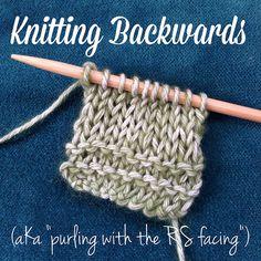 Knitting backwards